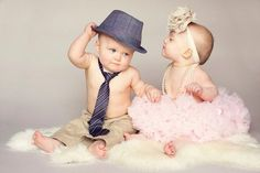 the CoOl Kids - twin first birthday picture Twin Birthday Parties, Twin First Birthday, Baby Birthday, Birthday Ideas, Twin Birthday Themes, Boy Girl Twins, Twin Girls, Twin Babies, Boy Girl Twin Outfits