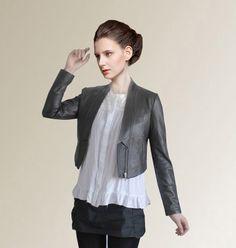 2014 New Fashion Women Genuine Sheepskin Leather Jacket Desigual Brand Casual Ladies Slim Short Coat Feminina Jaqueta Sale ZH006 $147.36