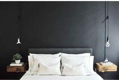 @casa.nolita light their sleek bedroom interior with long-corded Plumen 001s. #bedroomgoals #bedroomdesign #bedroomdecor #bedroomlighting #bedsidelights