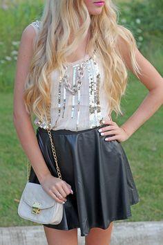 Skirt: $20, Top: $26 .. Links in blog post !