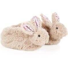 Monsoon Baby Novelty Bunny Slipper Boot ($9.99) ❤ liked on Polyvore featuring shoes, baby, kids, slippers and baby girl