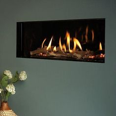 Gas Hole in the Wall Fireplaces Glass fronted fire by enviro flame