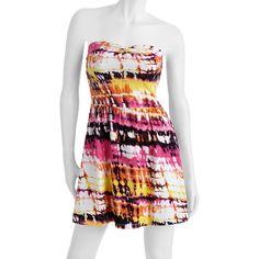 No Boundaries Juniors Twist Front Tube Dress: Juniors : Walmart.com