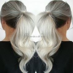Top Post of the Day! Hair by Josie Vilyvanh of Canada. Love the platinum hair color too! HOT Beauty Magazine Ponytail fb.com/hotbeautymagazine