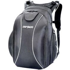 "Cortech Super 2.0 Backpack (BLACK) by Cortech. $94.99. Hide-away adjustable waist straps. Internal pocket for lap top storage accommodates up to 14""W x 9.5""L x 1.5""D. Two-tone red and black lining interior. Two multifunctional side pockets can be used for storage or as a water bottle holder. EVA-backed PP board structural panels. Internal organizer and media pocket. Mesh padded back pad provides ventilation. Built-in padded helmet house."