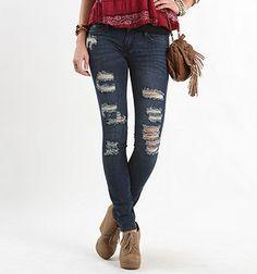 Bullhead Black Destroy Monsoon Skinniest Jeans  #BullheadBlack #Pacsun