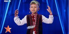 """(VIDEO): Un copil din Chișinău a smuls ropote de aplauze la """"Românii au talent"""": """"Unire, frați români!"""" ~ InfoPrut"""