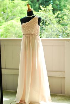 my Grecian look Blush pink dress :  wedding bridesmaids ceremony dress pink 3