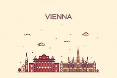 Vienna skyline (Austria) by grop on Creative Market