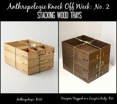 Stacking Wood Trays ~ Anthropologie Knock Off Week No. 2 - Designer ...