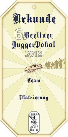 Urkunde 6. Berliner Juggerpokal 2012
