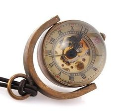 billes de verre collier à pendentif montre de poche mécanique squelette pw104 dans  de  sur Aliexpress.com