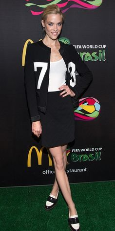 How awesome is Jaime King's World Cup-inspired outfit? // Shop the look