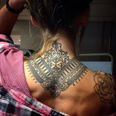 Back of the neck tattoo