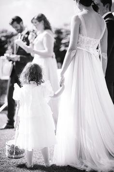 At our rustic DIY outdoor Wedding with our flowerchild <3   Wedding Dress: BHLDN   Penelope Gown  Foto: Corine de Stefani - The Wedding Day    http://littlecity.ch/unser-hochzeitsalbum-teil-1-zeremonie-in-der-villa-s-quirico/