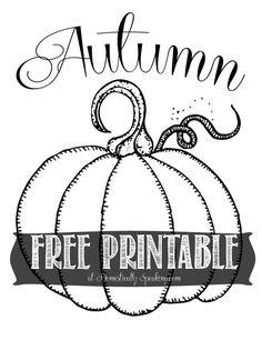 Free Autumn Pumpkin Printable so cute for fall