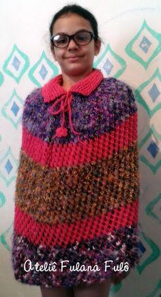 Ateliê Fulana Fulô: Poncho de tricô - com receita