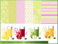 Summer Drink Clipart  Digital Clip Art of by DigitalFileShop, $4.25