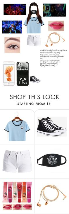 """Going To The Arcade With Luna!"" by baekyeoltaekook ❤ liked on Polyvore featuring Converse, Barbour International and Happy Plugs"