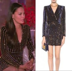 Jules Wainstein's Real Housewives of New York Season 8 Reunion Dress Black Crystal Embellished Wrap Mini Dress http://www.bigblondehair.com/real-housewives/real-housewives-new-york-season-8-reunion-dresses/