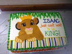 Lion king baby shower cake!
