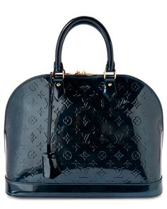 Louis Vuitton Green Monogram Vernis Alma GM is on Rue. Shop it now.
