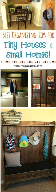 HUGE List of Organizing Tips and Tricks for Tiny Houses and Small Homes! ~ from TheFrugalGirls.com ~ easy ways to get your cute little house in tip-top organized shape! #thefrugalgirls
