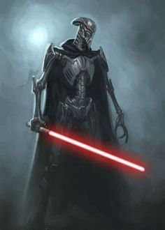 That is a very cool design for a droid. To bad they cannot use the force, so it can't be a Sith. Oh well.