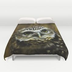 Burrowing Owl Duvet Cover by Photography By MsJudi - $99.00