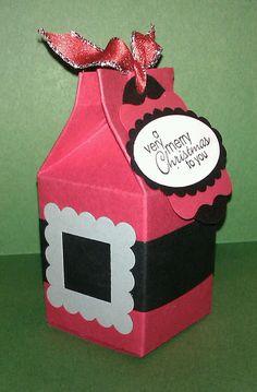Santa's Coat Milk Carton Treat Holder