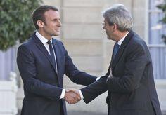 Première rencontre France-Italie à l'Elysée entre Emmanuel Macron et Paolo Gentiloni
