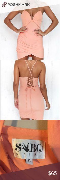 Snap skirt dress Peach dress from snap skirt, only worn once Sabo Skirt Dresses Mini