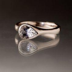 Gray Blue Tear Drop Tanzanite Engagement Ring by NodeformWeddings, $415.00