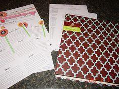Sustainably Chic Designs: ORGANIZATION: Home Management Binder Week #1