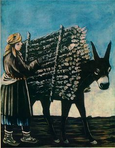 Firewood Seller - Niko Pirosmani State Art Museum of Georgia Kandinsky, Fine Art Prints, Framed Prints, Canvas Prints, Grandma Moses, Henri Rousseau, Art Database, Naive Art, State Art