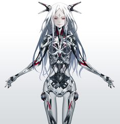 Safebooru is a anime and manga picture search engine, images are being updated hourly. Character Drawing, Character Concept, Character Design, Fantasy Anime, Fantasy Girl, Chica Cyborg, Shining Tears, Cyborg Girl, Arte Cyberpunk