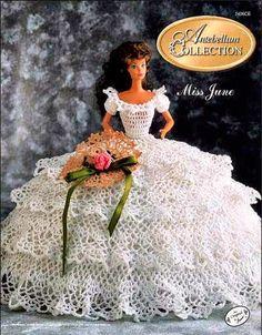 Patrones de vestidos crochet para Barbie | Todo crochet