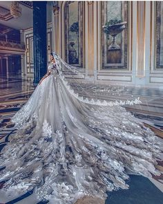 Embroidered Wedding Gown offered by Christian Wedding Dresses Store, a prominent supplier of Embroidered Wedding Dress in. Flowery Wedding Dress, Princess Wedding Dresses, Dream Wedding Dresses, Bridal Dresses, Wedding Gowns, Wedding Dress Long Train, Cathedral Wedding Dress, Butterfly Wedding, Dresses Dresses