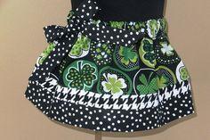 St Patrick Day Skirt Girls Irish Elastic Waist Shamrock Skirt Knee Length Toddler, Cotton Green Baby Handmade Twirl Skirt Patty