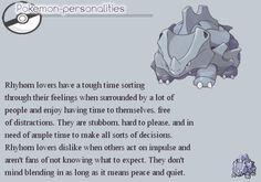 "pokemon-personalities: "" #111, Rhyhorn """