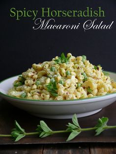 Spicy Horseradish Macaroni Salad - an alternative to the usual Macaroni Salad served on 4th of July... BE DARING!