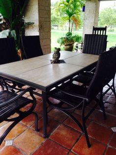 Hampton Bay, Pembrey 7-Piece Patio Dining Set, HD14214 at The Home Depot - Mobile