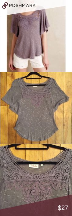Anthropologie Brand Embroidered Lilac Top Size xs ⚜️I love receiving offers through the offer button!⚜️ Good condition, as seen in pictures! Fast same or next day shipping! Open to offers but I don't negotiate in the comments so please use the offer button Check out the rest of my closet for more Adidas, Lululemon, Tory Burch, Urban Outfitters, Free People, Anthropologie, Victoria's Secret, Sam Edelman, Topshop, Asos, Revolve, Brandy Melville, Zara, and American Apparel! Anthropologie Tops