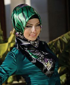 cute style for silky hijabs