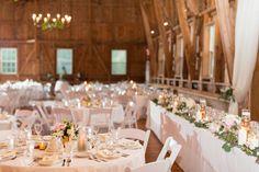 Glamorous barn wedding reception | Maison Meredith Photography | www.maisonmeredith.com