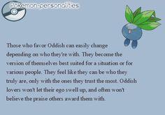 Pokemon Personalities: Oddish