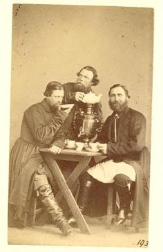 Citizens of St.-Petersburg, Russia. 1860s.  Karrick