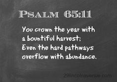 Psalm 65:11 #pintheword