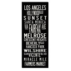 Uptown Artwork Los Angeles Canvas Wall Print - 20W X 40H in.  $274.99