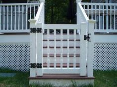 Back Porch gate top of stairs but wood